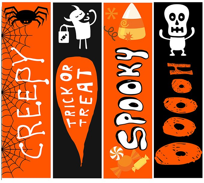 photo relating to Cute Printable Bookmarks identify Totally free Printable Halloween Bookmarks - Onion Rings Elements