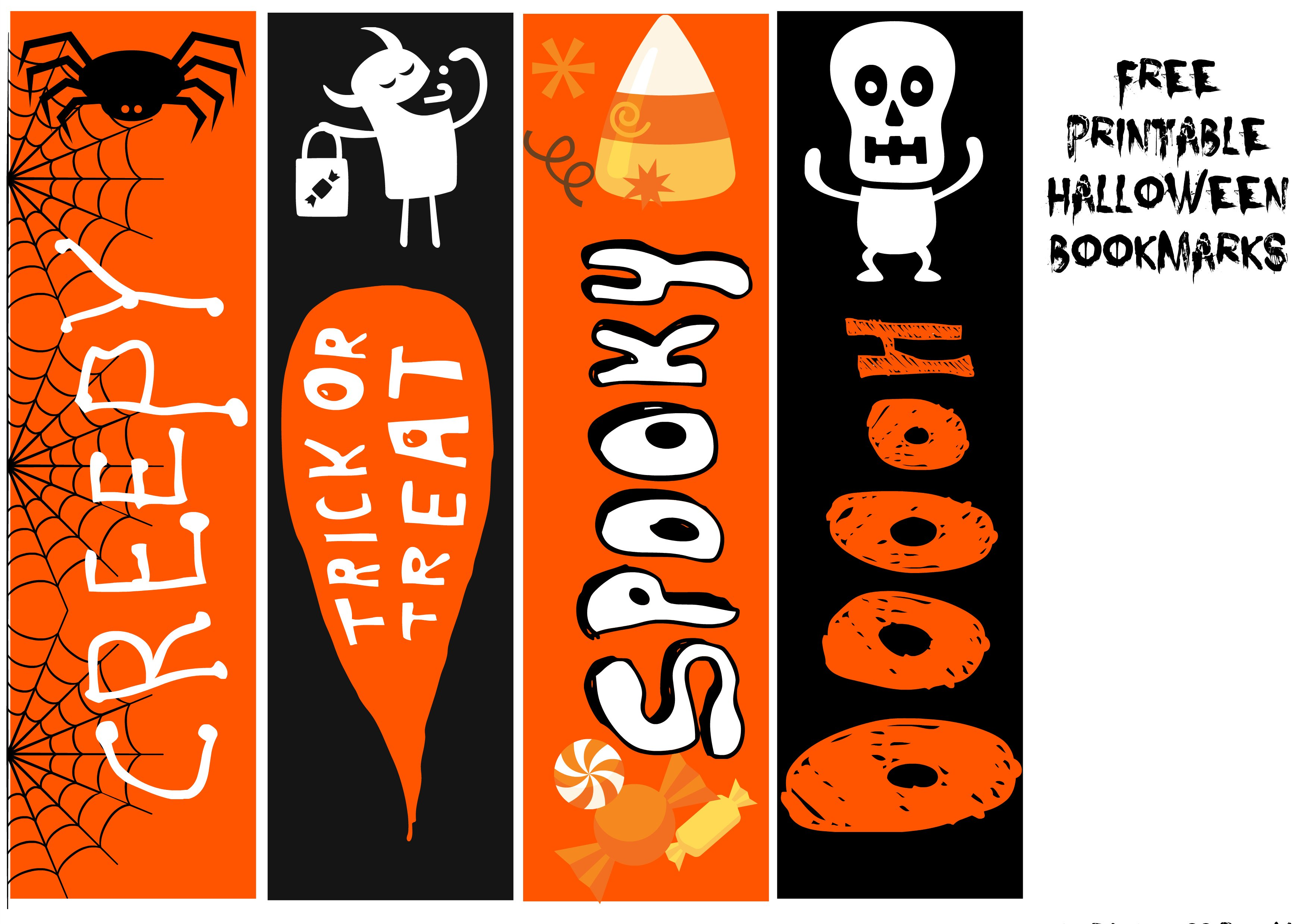 FREE Printable Halloween Bookmarks - Onion Rings & Things