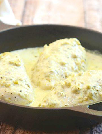 One-Pan Creamy Salsa Verde Chicken