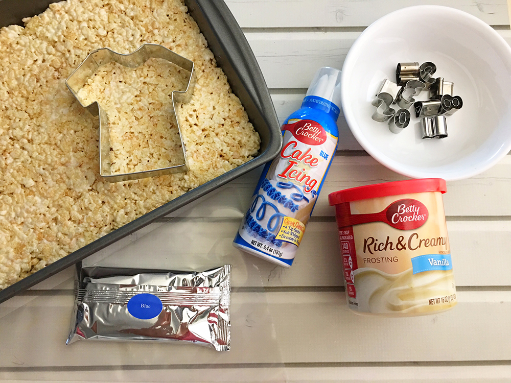 Sports Jersey Rice Krispies Treats are the perfect dessert or snack for a game day party. They're as much fun to make as they are to eat-materials