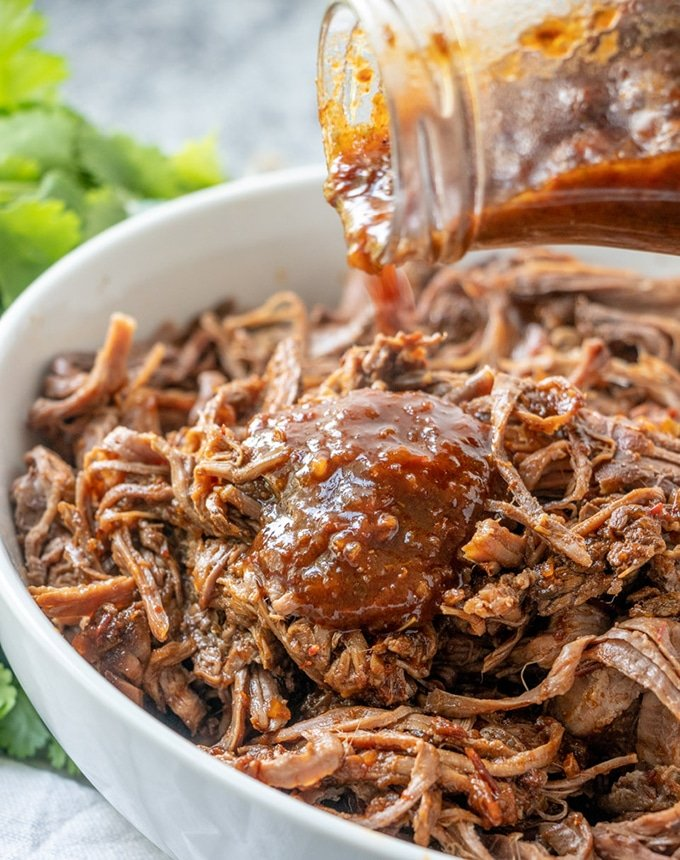 The bold sauce adds just the right amount of flavor to this delicious beef barbacoa.