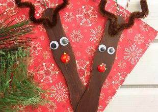 Craft Stick Reindeer Ornaments