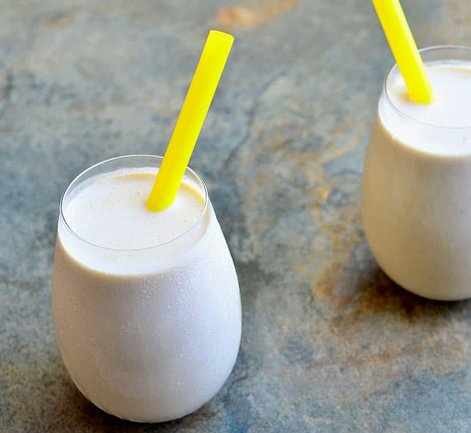 Peanut Butter Banana Smoothie is rich, creamy and ultra tasty! Packed with potassium, carbohydrates, and protein, it's a great breakfast or anytime pick-me-up treat.