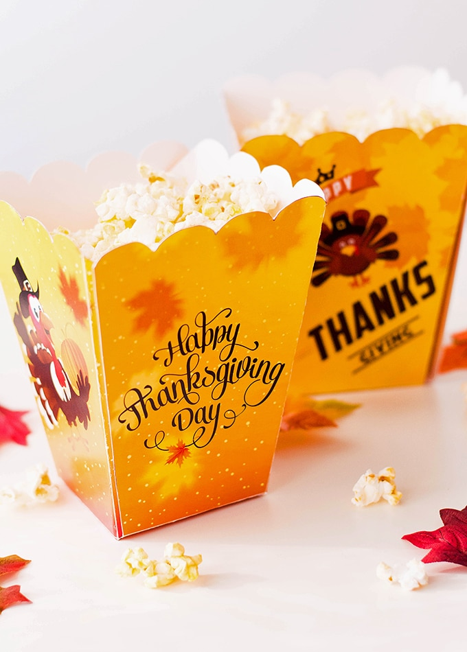 This is a picture of Punchy Printable Popcorn Box