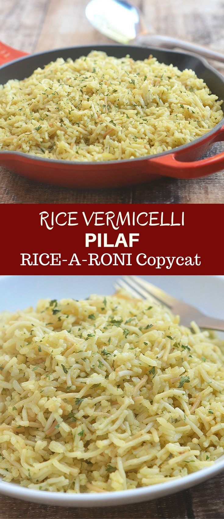 Rice Vermicelli Pilaf is a spot on Rice-A-Roni San Francisco Treat copycat. Made from scratch and fresh ingredients, it's healthier and tastes a whole lot better than from the box!