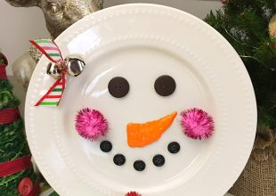 DIY Snowman Decorative Plate