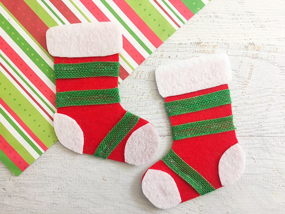 felt stocking christmas ornaments are an adorable addition to any holiday decor so easy and - Christmas Socks Decoration