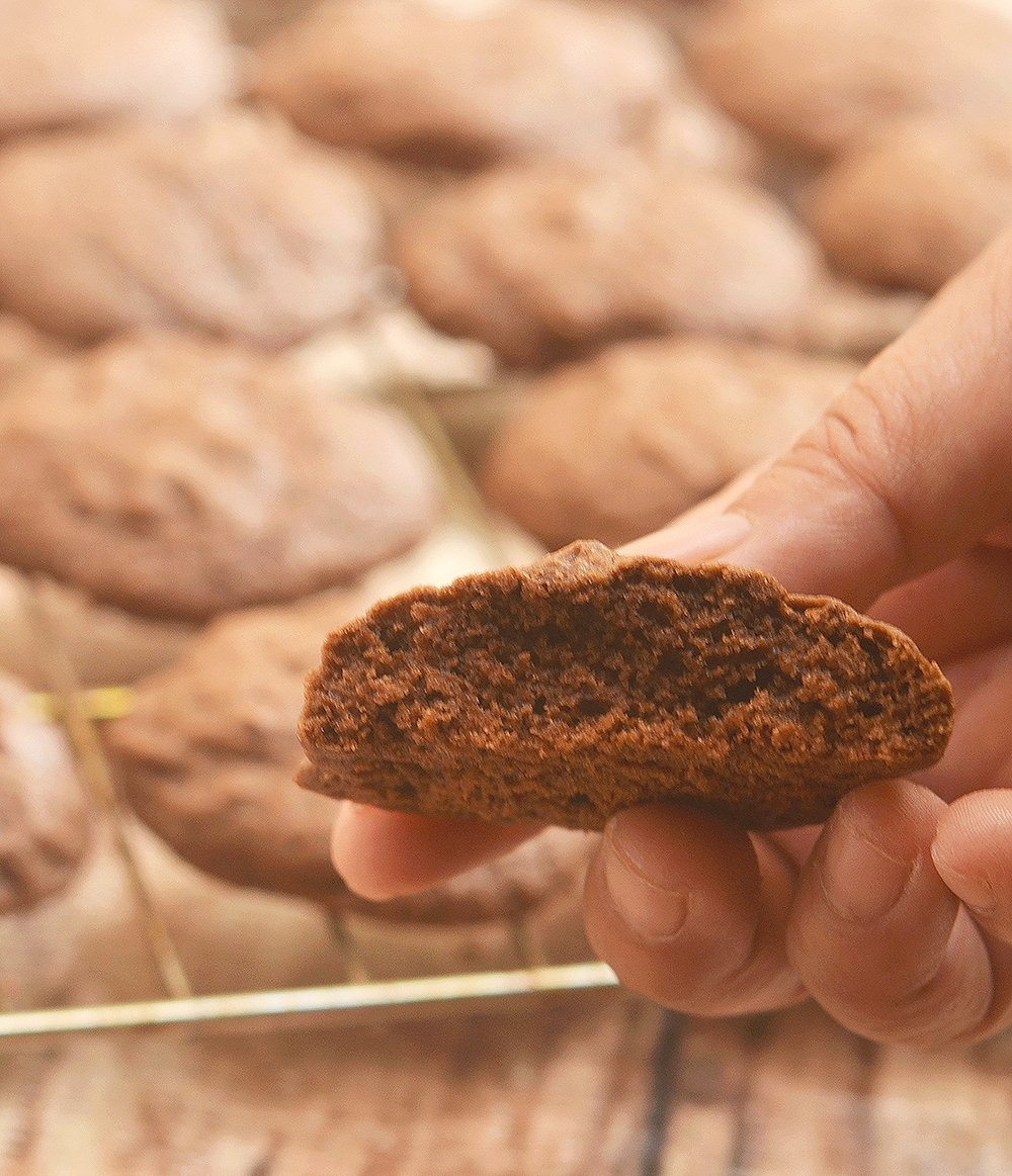 Double Chocolate Cookies from Mrs. Fields Cookbook are soft, fudgy and chocolatey. These brownie-like cookies are ultimate chocolate lovers treat!