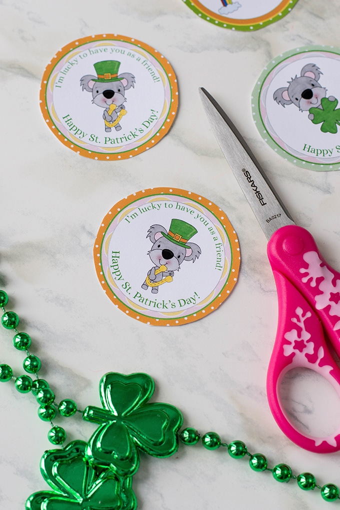 Adorable St. patrick's day cupcake toppers are a perfect addition to some celebratory cupcakes
