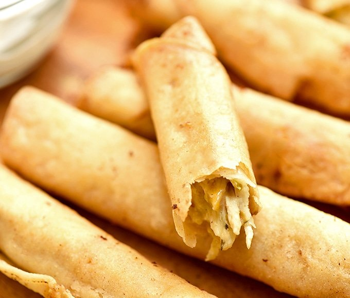 cream cheese chicken taquitos