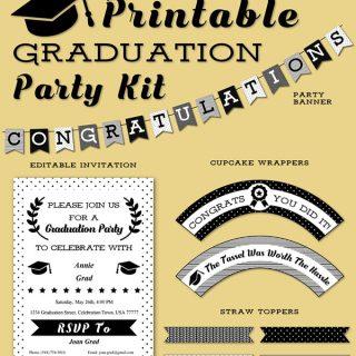 Free Graduation Party Kit Printables
