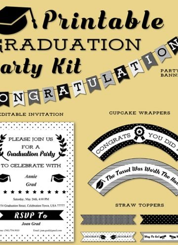 Free Graduation Party Kit Printables