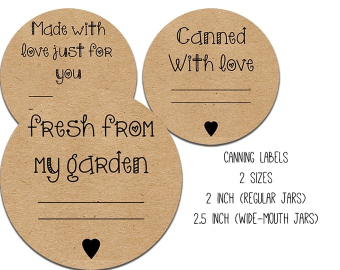 These Free canning label printables are perfect for your jar of canned goods.