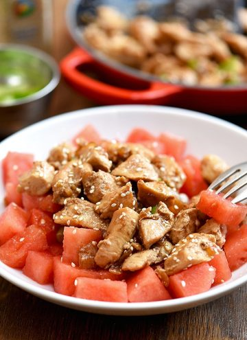 Sesame Chicken and Watermelon