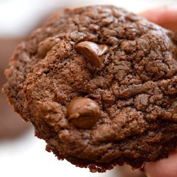 nutella cookies with chocolate chips