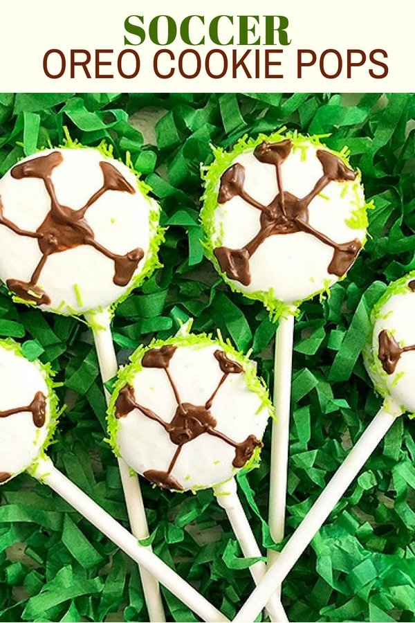 Soccer Oreo Cookie Pops