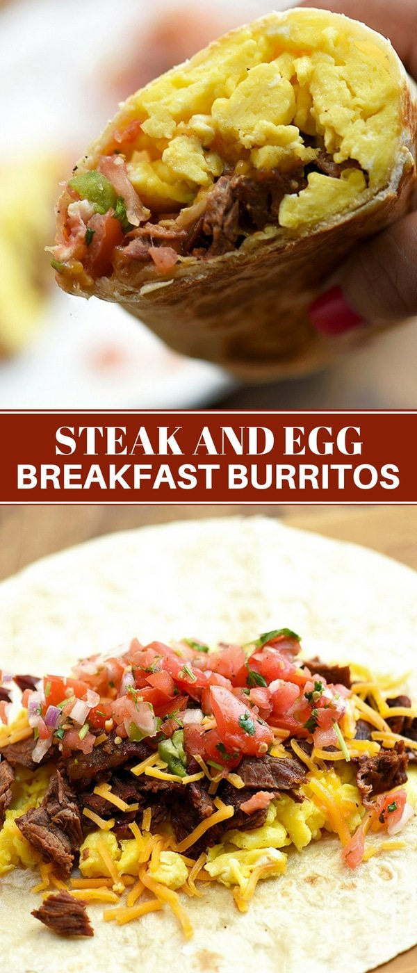 Steak and Egg Breakast Burritos