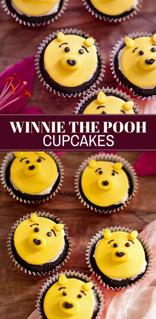Winnie the Pooh Cupcakes are the most adorable sweet treat ever! Easy and fun to make, they're perfect for movie night or a Winnie the Pooh theme party.