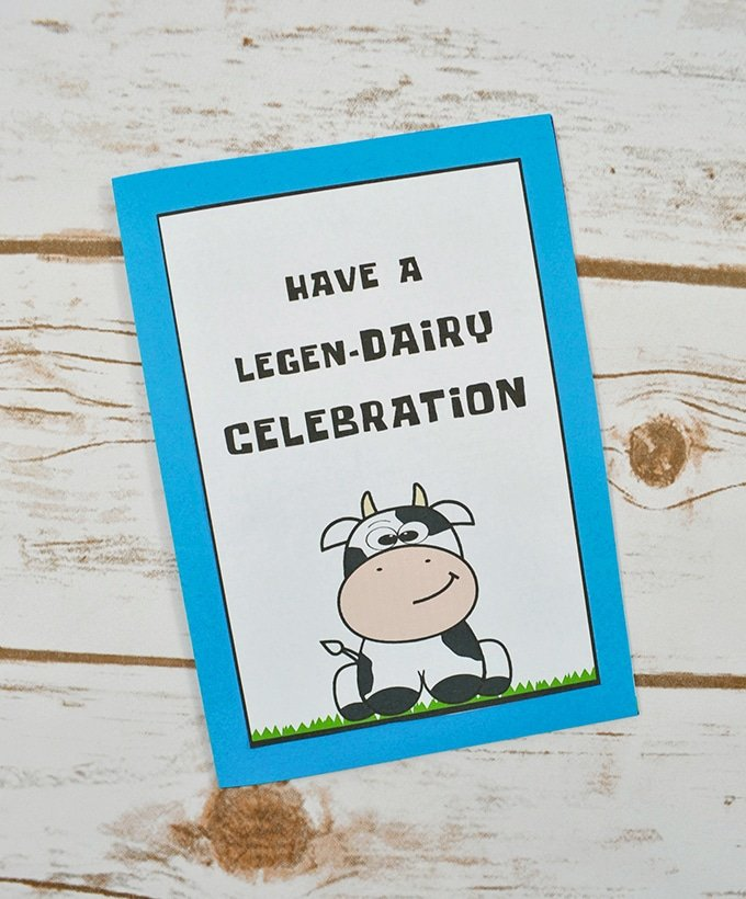 DIY Cow Birthday Card with FREE Printable