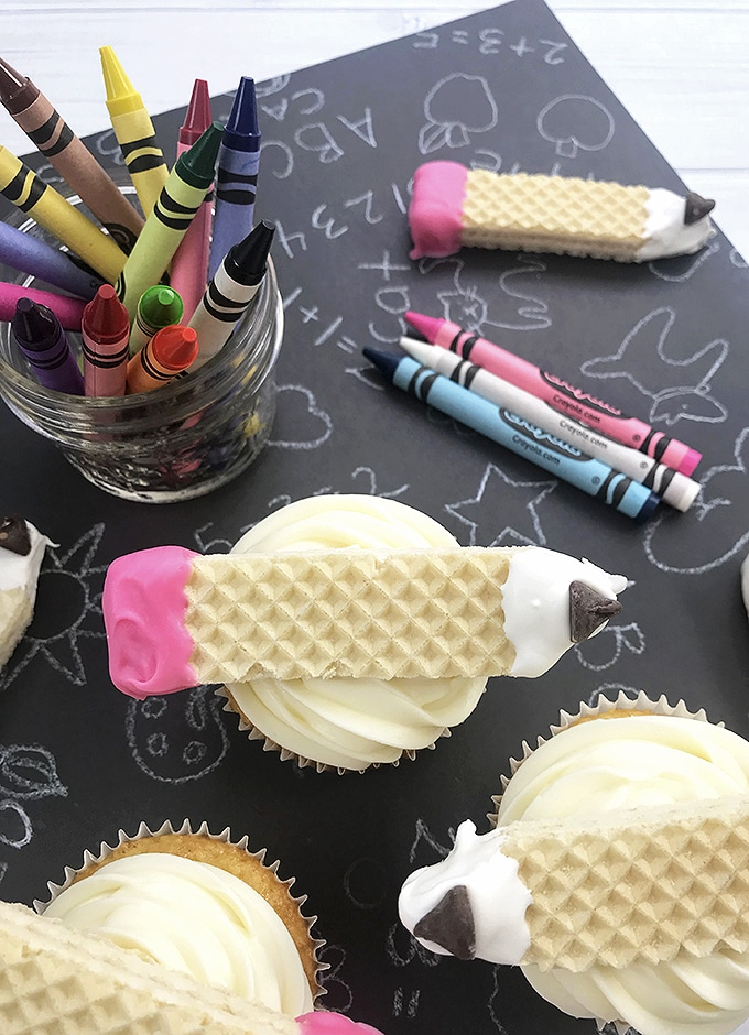 Pencil Back-to-School Cupcakes