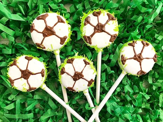 Soccer Oreo Pops