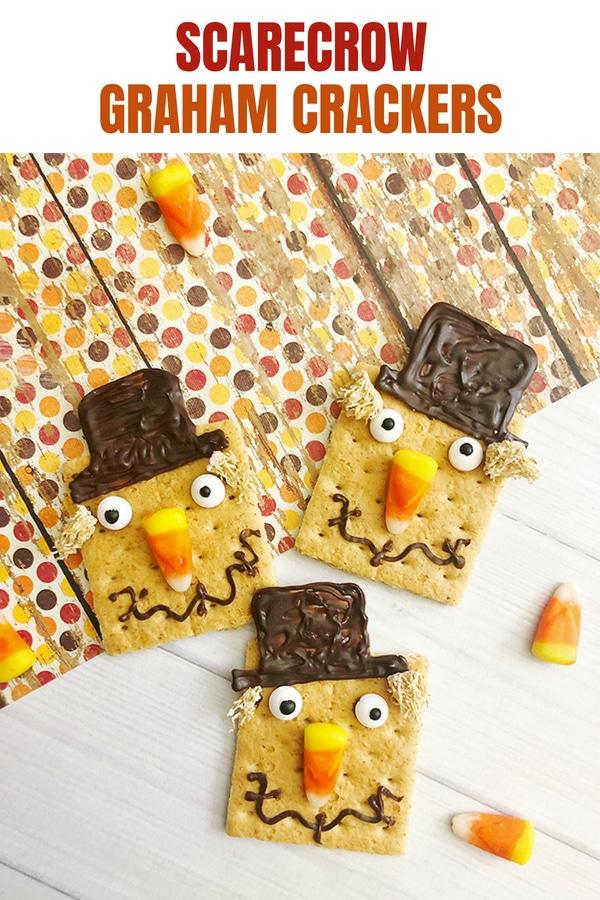 scarecrow-inspired graham crackers