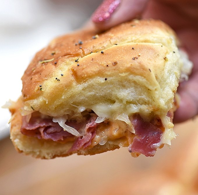It doesn't get any better than the flavors of these delicious hot pastrami sliders!
