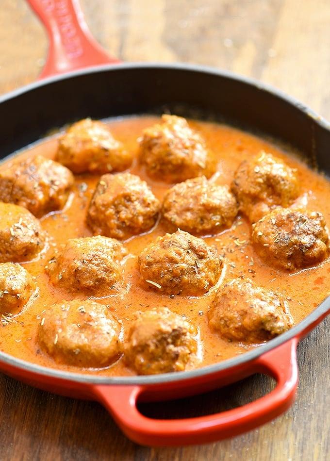 Meatballs with Creamy Tomato Sauce