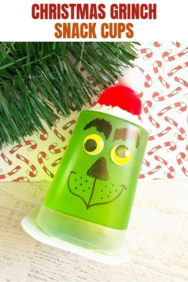 green jello cups decorated as Grinch