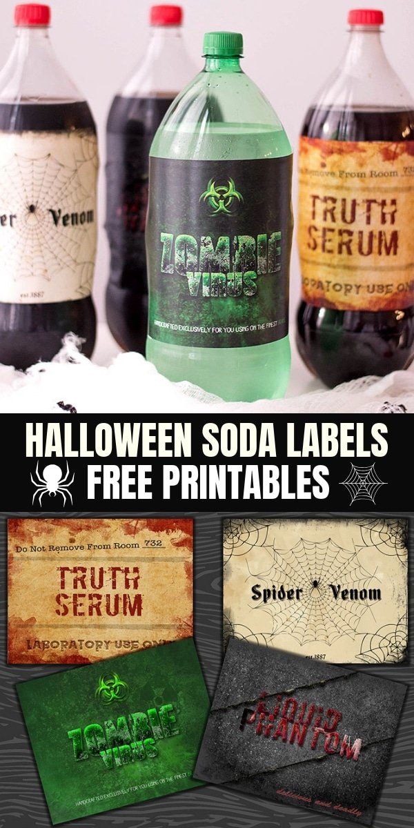 free printable halloween potion bottle labels assorted soda bottles with halloween labels