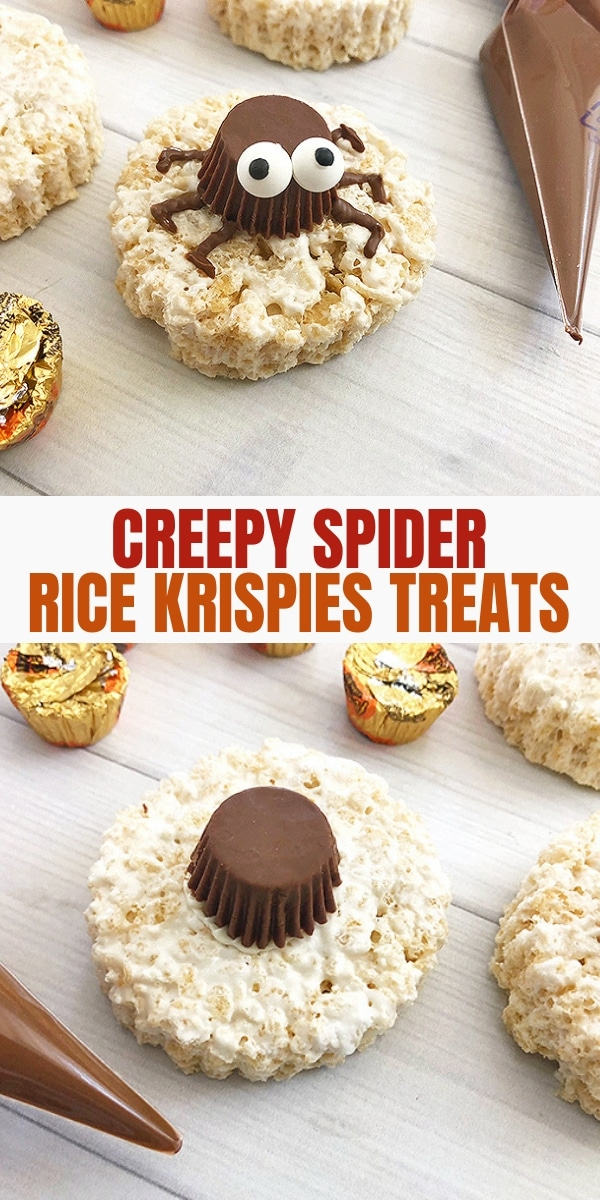 spooky spider rice krispies treats