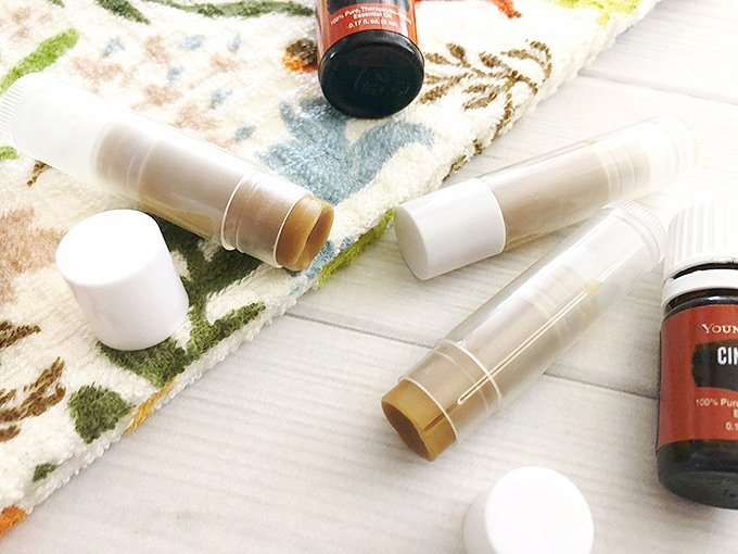 Homemade Toasted Pumpkin Chapstick is a simple DIY that makes a perfect homemade gift