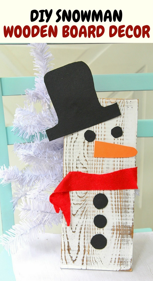 wooden board Snowman decor