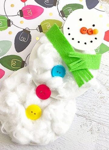 Snowman Cotton Ball Craft