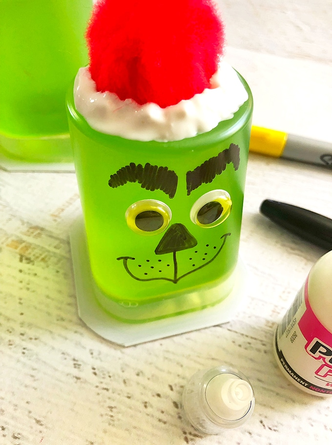 Grinch Jello Cups