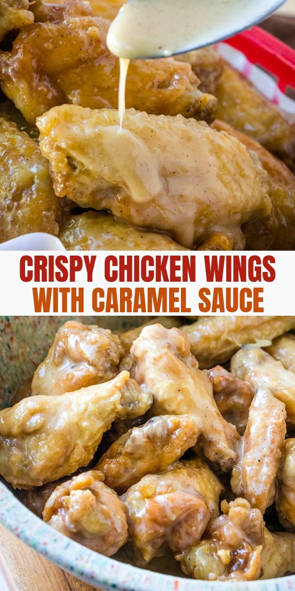 Crispy Chicken Wings with citrus caramel sauce