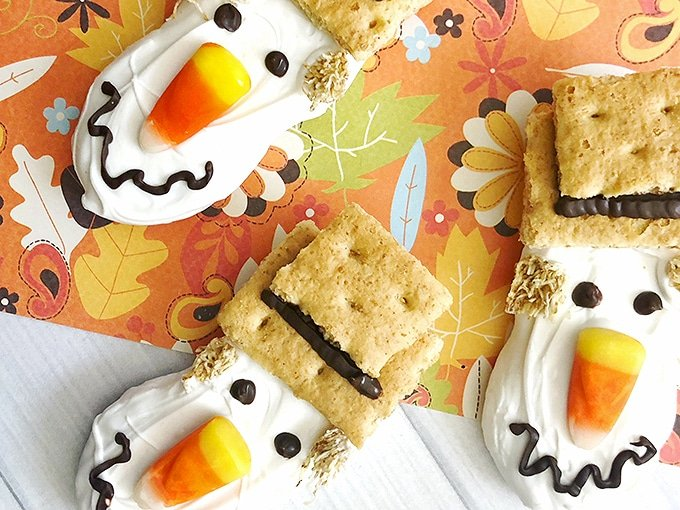 Scarecrow Nutter Butters are a simple semi-homemade treat that's perfect for Halloween