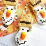 scarecrow decorated nutter butter cookies