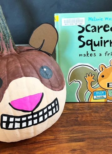 Scaredy Squirrel Pumpkin