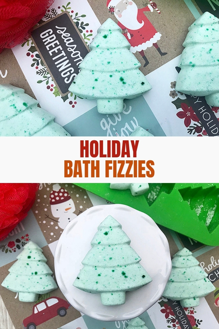 holiday batch bombs in Christmas tree shapes