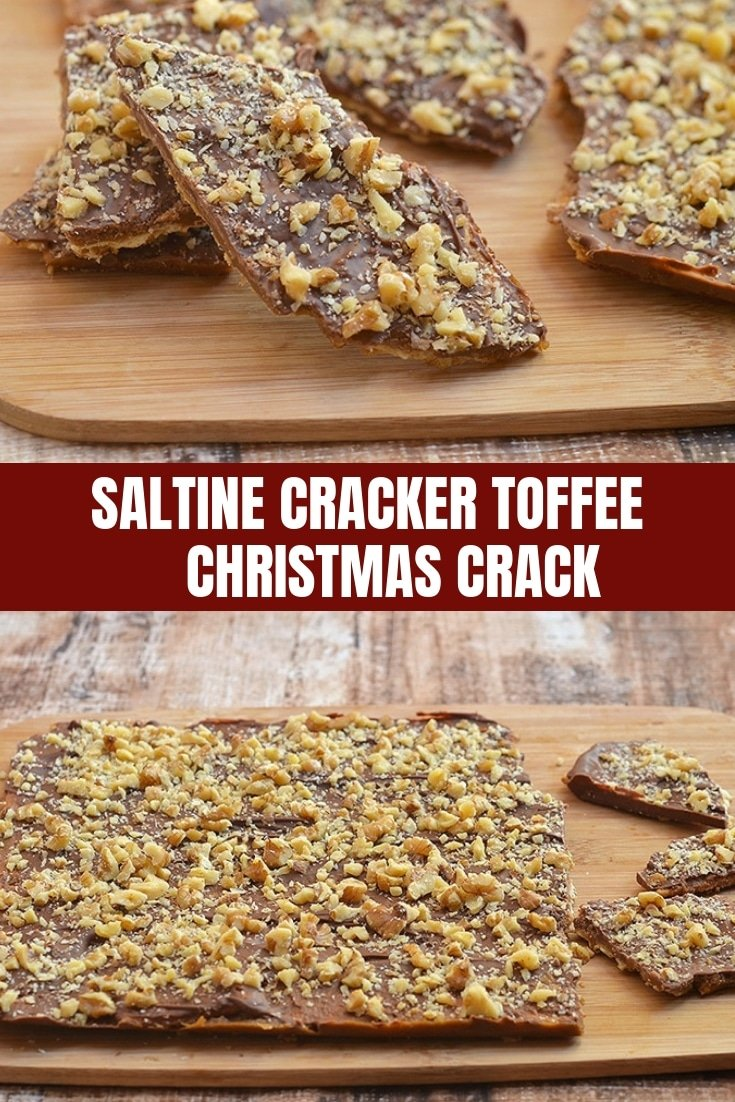 Saltine Cracker Toffee is crunchy, buttery and absolutely addicting. A delicious combination of sweet and salty, it's called Christmas Crack for good reason!