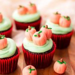 pumpkin patch decorated chocolate cupcakes