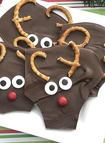 Rudolph the Red-Nose Reindeer Chocolate Bark