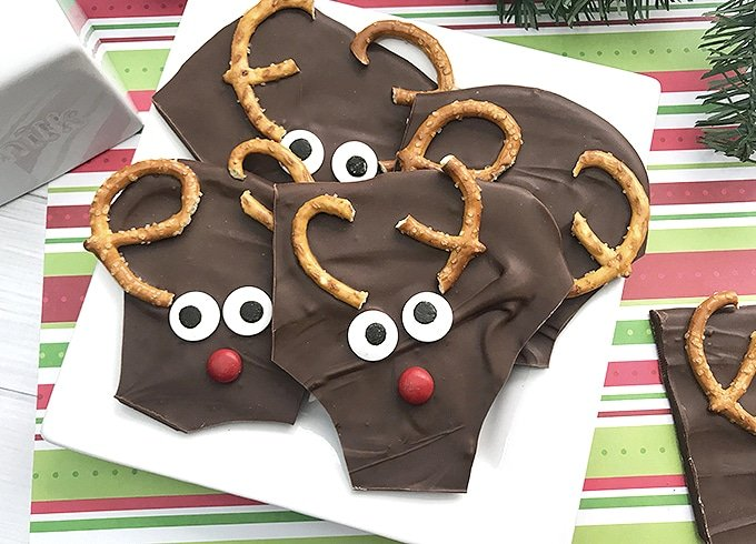 Rudolph the Reindeer Chocolate Bark