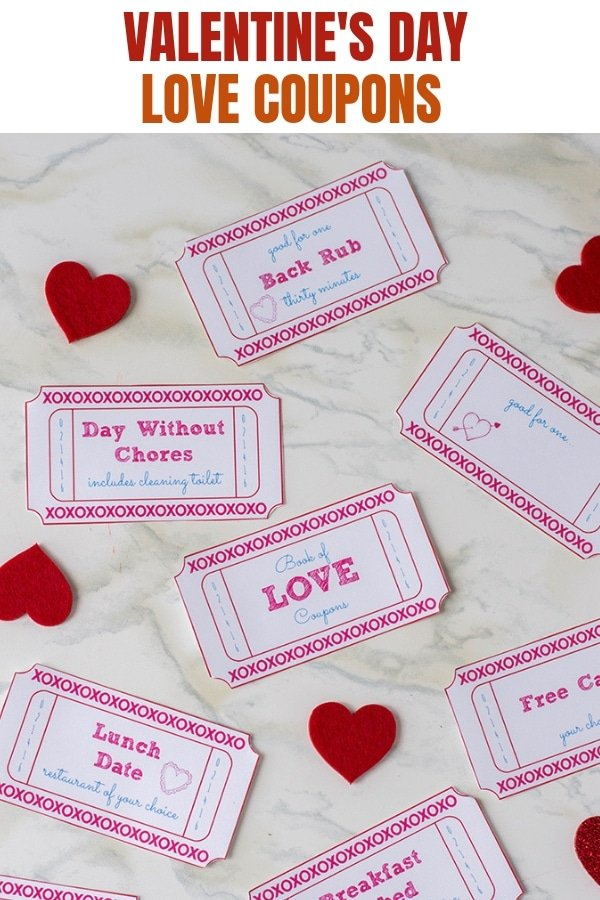 cut out Valentine's Day FREE Printable Love Coupons