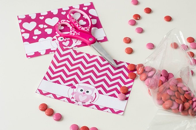 cut out valentine's day treat bag toppers