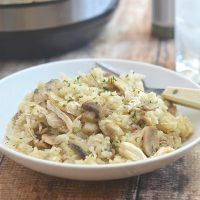 Pressure Cooker Chicken and Rice with Mushrooms