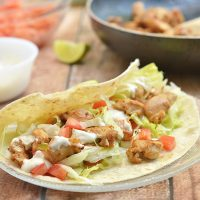 Chicken Soft Tacos with Secret Sauce are what's for dinner tonight! With flavorful chicken morsels and taco fixings wrapped in soft tortillas, and then drizzled with a dreamy Del Taco-inspired sauce, they are quick and easy to make yet pack big, bold flavors.